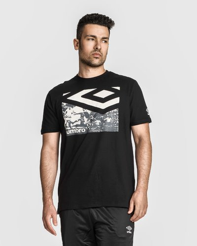 T-shirt with football-inspired print - Black