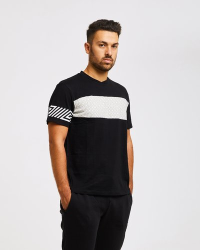 Logo pattern t-shirt - Black