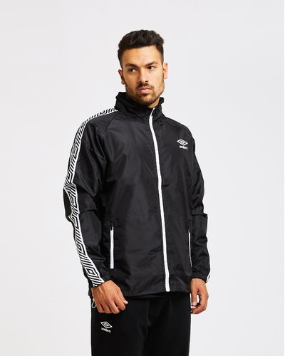 Wind breaker with logo print band