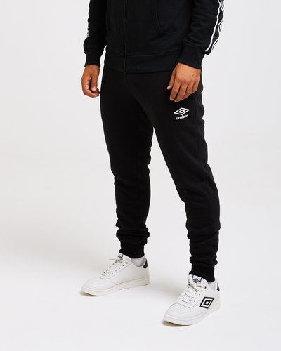 Brushed fleece jogger pants with logo print band