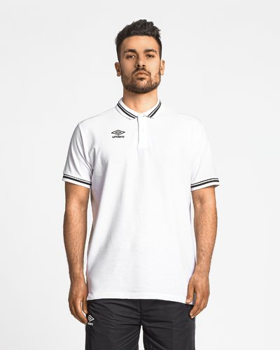 Cotton piquet polo with logo