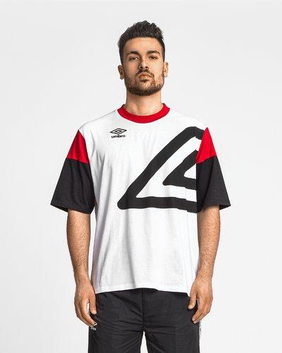 T-shirt oversize con maniche a contrasto