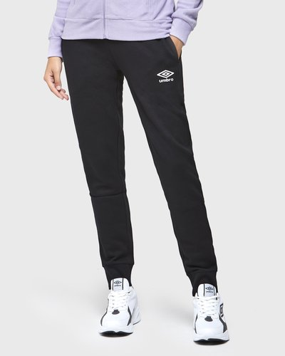 Brushed fleece jogger pants with logo - Black