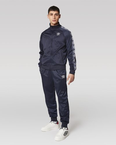 Polyester full zip suit with logo print band