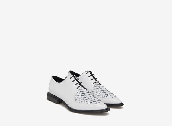 Lace-up python shoes