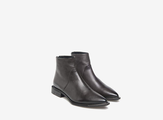Metal capped ankle boots