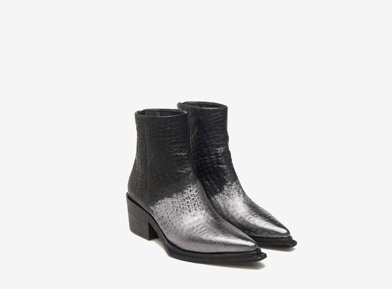 Metal tipped ankle boots