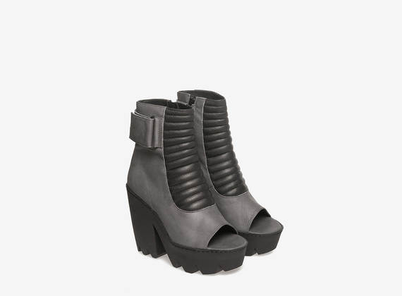 Biker style ankle boots