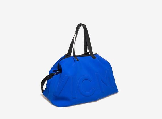 Shopping bag logo trapuntato