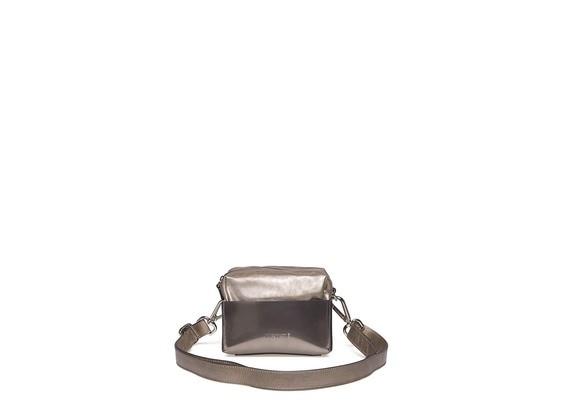 Mini-sac en cuir laminé à coque rigide
