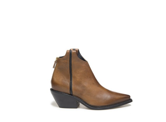Texano boots with contrasting piping