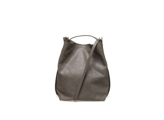 Bucket bag with military green side bands