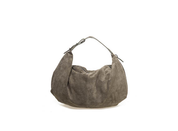 Military green suede bag