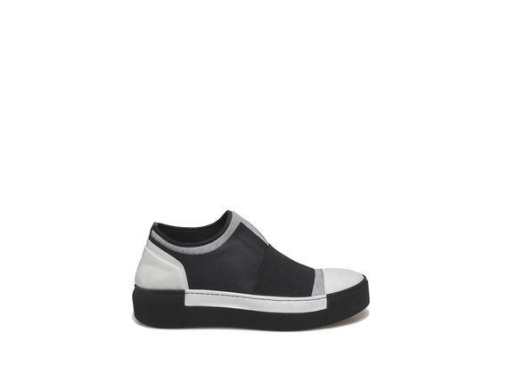 Grey plush slip-on