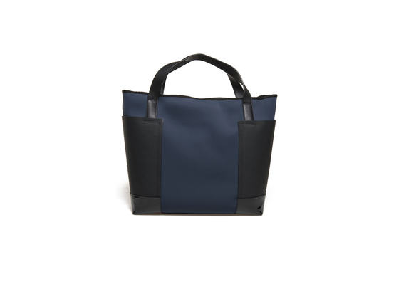 Blue neoprene shopping bag