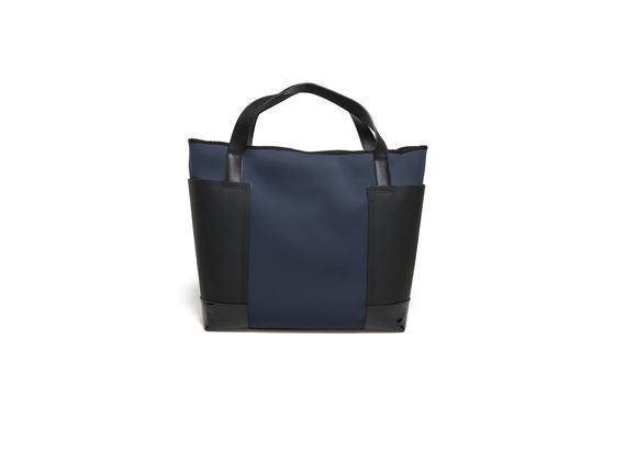 Shopping bag blu in neoprene