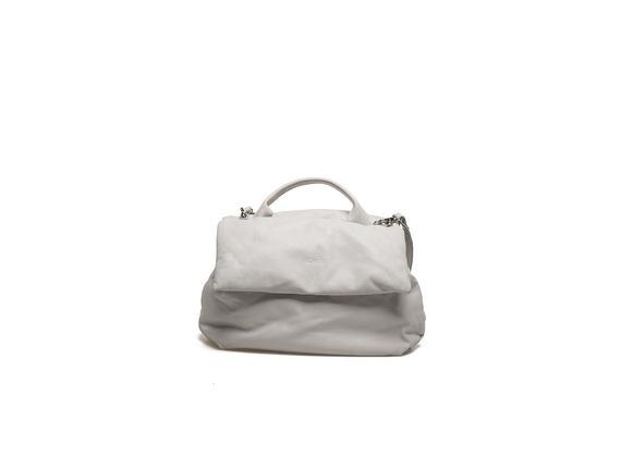 Padded off-white shoulder bag