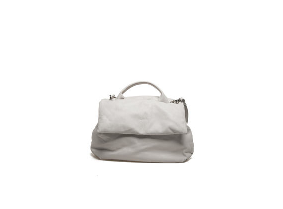 Padded off-white shoulder bag