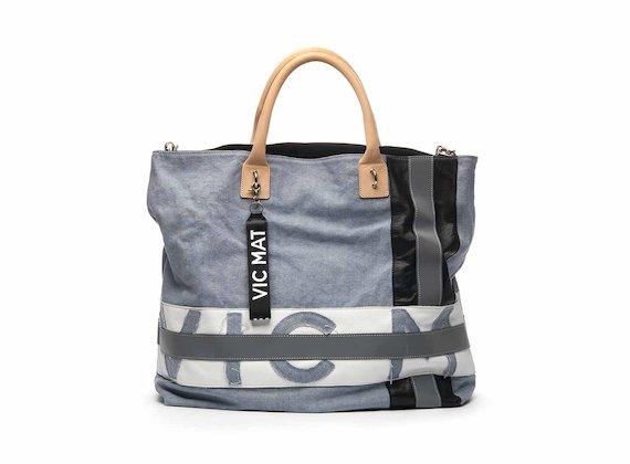 Joyce cotton shopper bag with logo