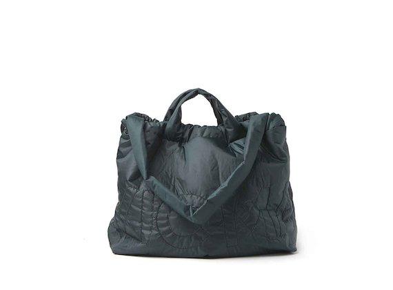 Penelope<br />packable dark green shopper backpack