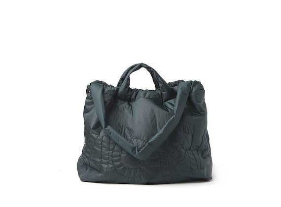 Penelope<br />packable dark green shopper backpack