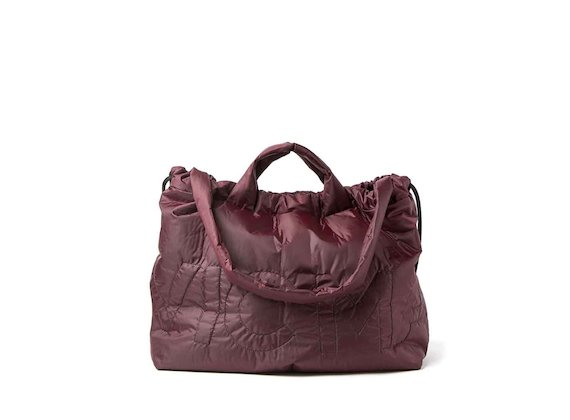 Penelope<br />burgundy packable shopper backpack