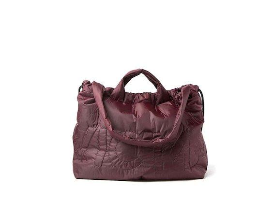 Penelope<br />burgundy packable shopper backpack