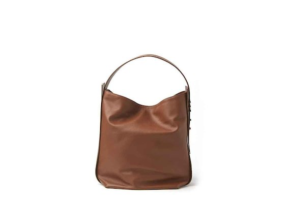 Viola<br />leather bucket bag