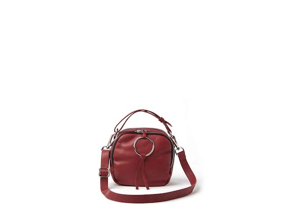 Clarissa<br />mini bag con anello rossa