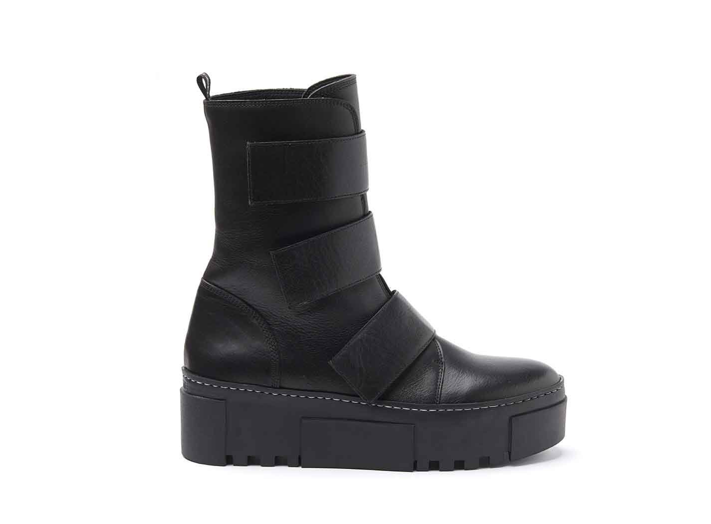 Military Boots With Velcro Straps And