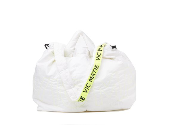 Penelope <br />White reversible backpack