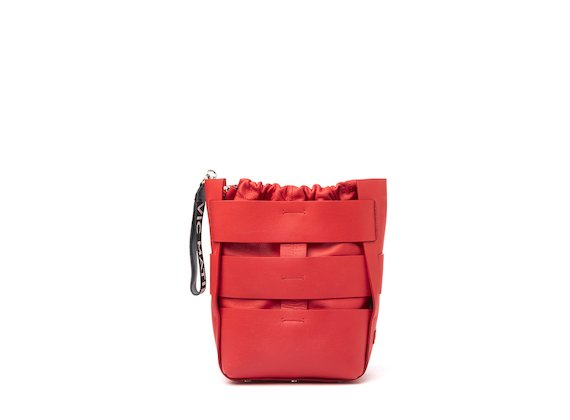 Altea<br />Red cut-out bucket bag