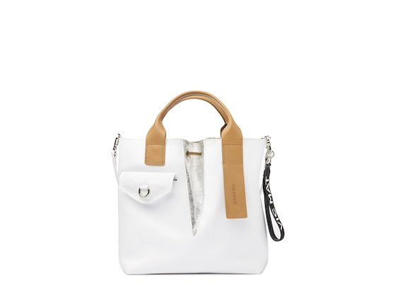 Cleofe<br />Mini shopper bag with contrasting handle