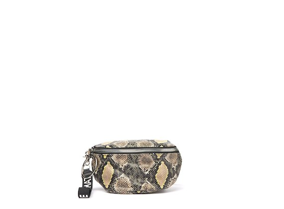 Ginger<br />Military green snakeskin-effect bumbag