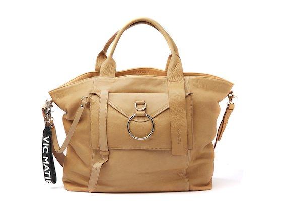 Antonia<br />Grand shopper couleur cuir