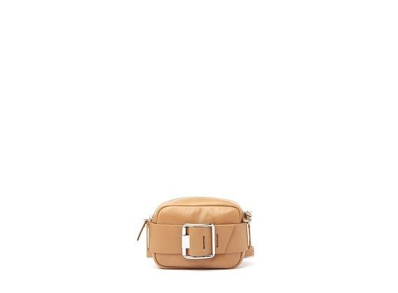 Gwen<br />Mini-bag cuoio con fibbia