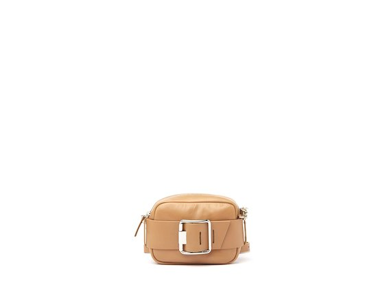 Gwen<br />Leather mini bag with buckle