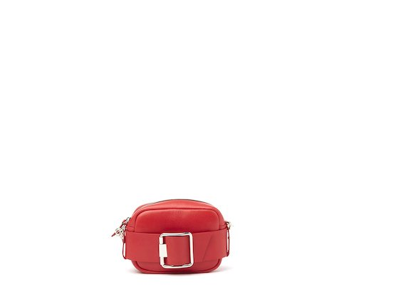 Gwen<br />Red mini bag with buckle