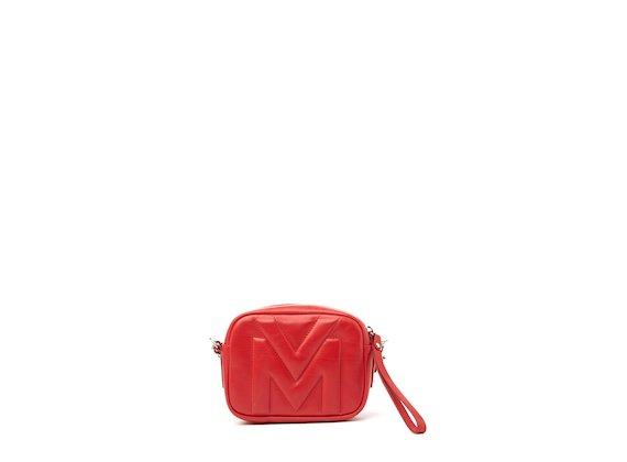 Melody<br />Mini sac rouge avec logo matelassé