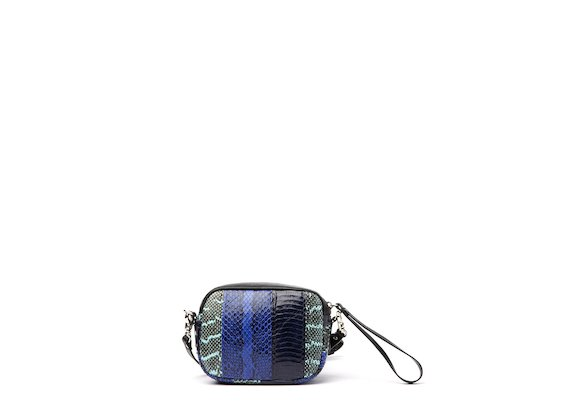 Guenda<br />Minibag in Patchwork-Optik Blau