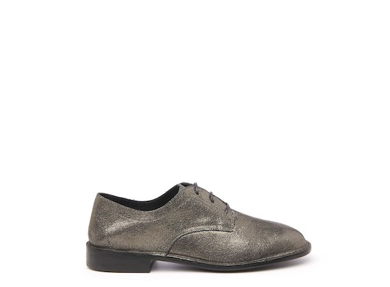 Gunmetal unlined Derby shoe
