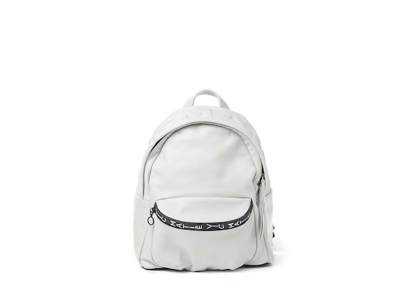 Amal<br>White 3D logo mini backpack