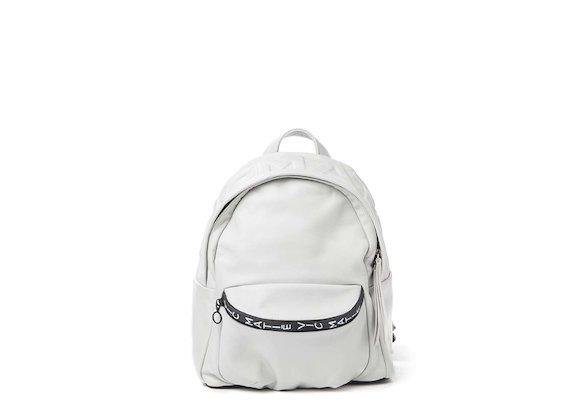 Amal<br>White 3D logo mini backpack