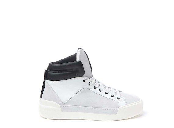 Sneakers avec col rembourré en contraste