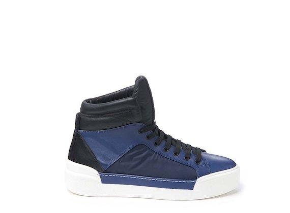 Sneaker basket blu