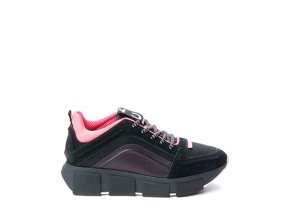 Trainer with neon inserts