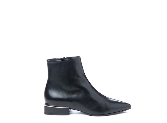 Ankle boot with geometric heel