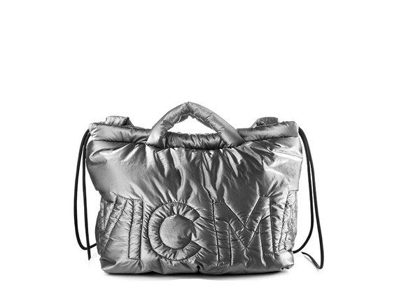 Penelope<br />Grey bag/backpack in silky nylon