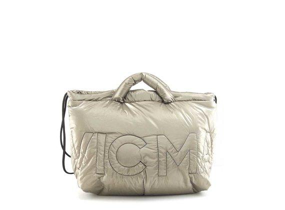Penelope<br />Dove-grey bag/backpack in silky nylon
