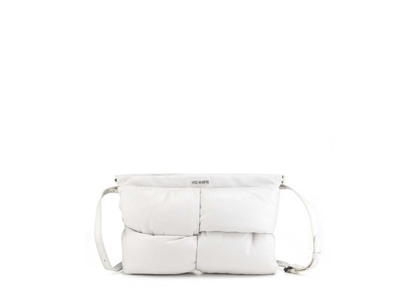 Arisa<br />Ice-white leather clutch